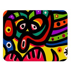 A Seamless Crazy Face Doodle Pattern Double Sided Flano Blanket (large)