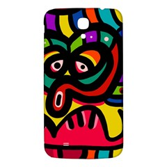 A Seamless Crazy Face Doodle Pattern Samsung Galaxy Mega I9200 Hardshell Back Case
