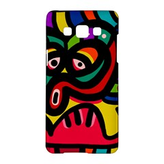 A Seamless Crazy Face Doodle Pattern Samsung Galaxy A5 Hardshell Case
