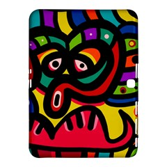 A Seamless Crazy Face Doodle Pattern Samsung Galaxy Tab 4 (10 1 ) Hardshell Case