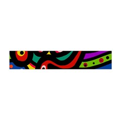 A Seamless Crazy Face Doodle Pattern Flano Scarf (mini)