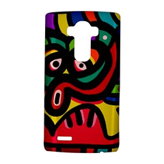 A Seamless Crazy Face Doodle Pattern LG G4 Hardshell Case