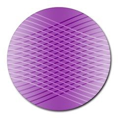Abstract Lines Background Round Mousepads