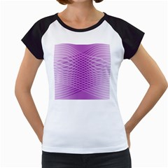 Abstract Lines Background Women s Cap Sleeve T