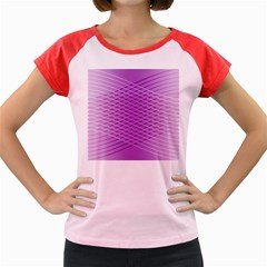 Abstract Lines Background Women s Cap Sleeve T Shirt