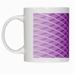Abstract Lines Background White Mugs