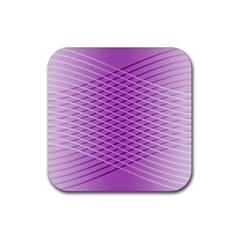 Abstract Lines Background Rubber Coaster (square)