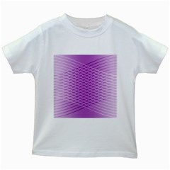 Abstract Lines Background Kids White T Shirts