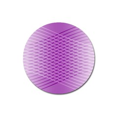 Abstract Lines Background Magnet 3  (Round)