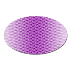 Abstract Lines Background Oval Magnet