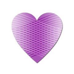 Abstract Lines Background Heart Magnet