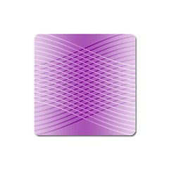 Abstract Lines Background Square Magnet