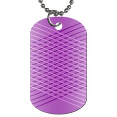 Abstract Lines Background Dog Tag (one Side)