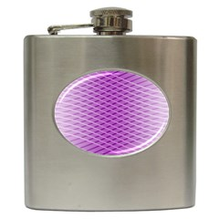 Abstract Lines Background Hip Flask (6 Oz)
