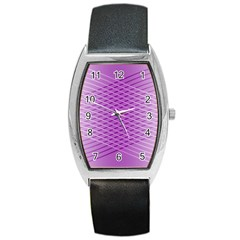Abstract Lines Background Barrel Style Metal Watch