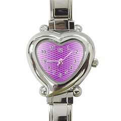 Abstract Lines Background Heart Italian Charm Watch