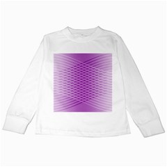Abstract Lines Background Kids Long Sleeve T Shirts