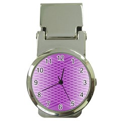 Abstract Lines Background Money Clip Watches
