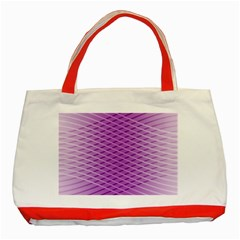 Abstract Lines Background Classic Tote Bag (red)