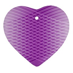 Abstract Lines Background Heart Ornament (two Sides)