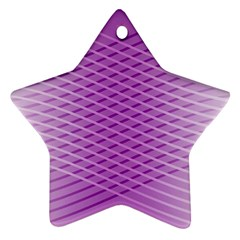 Abstract Lines Background Star Ornament (two Sides)