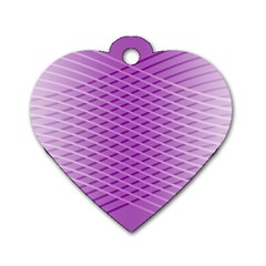 Abstract Lines Background Dog Tag Heart (two Sides)