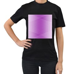 Abstract Lines Background Women s T-Shirt (Black)