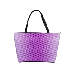 Abstract Lines Background Shoulder Handbags