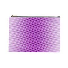 Abstract Lines Background Cosmetic Bag (large)