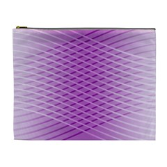 Abstract Lines Background Cosmetic Bag (xl)