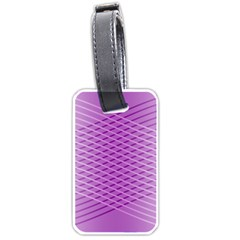 Abstract Lines Background Luggage Tags (one Side)