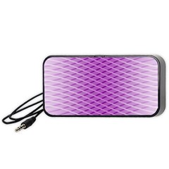 Abstract Lines Background Portable Speaker (black)