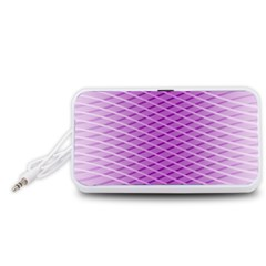 Abstract Lines Background Portable Speaker (white)