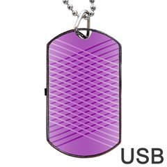 Abstract Lines Background Dog Tag Usb Flash (two Sides)