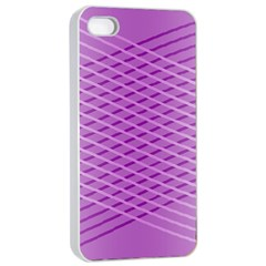 Abstract Lines Background Apple Iphone 4/4s Seamless Case (white)