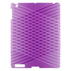 Abstract Lines Background Apple Ipad 3/4 Hardshell Case