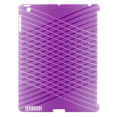Abstract Lines Background Apple Ipad 3/4 Hardshell Case (compatible With Smart Cover)