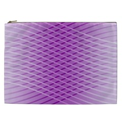 Abstract Lines Background Cosmetic Bag (XXL)