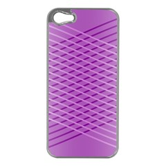 Abstract Lines Background Apple iPhone 5 Case (Silver)