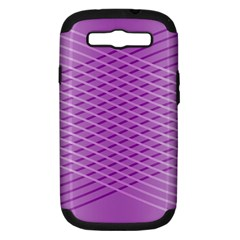 Abstract Lines Background Samsung Galaxy S III Hardshell Case (PC+Silicone)