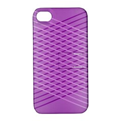 Abstract Lines Background Apple iPhone 4/4S Hardshell Case with Stand