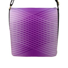 Abstract Lines Background Flap Messenger Bag (l)
