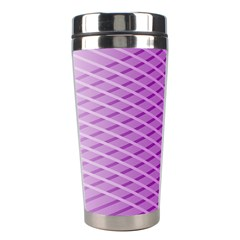 Abstract Lines Background Stainless Steel Travel Tumblers