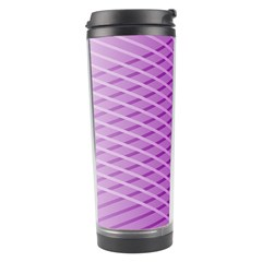 Abstract Lines Background Travel Tumbler