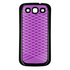 Abstract Lines Background Samsung Galaxy S3 Back Case (black)