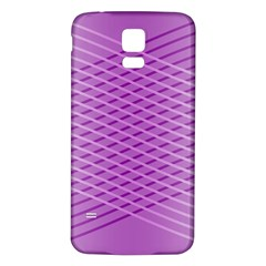 Abstract Lines Background Samsung Galaxy S5 Back Case (White)