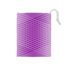 Abstract Lines Background Drawstring Pouches (medium)