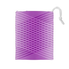 Abstract Lines Background Drawstring Pouches (large)