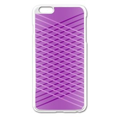 Abstract Lines Background Apple Iphone 6 Plus/6s Plus Enamel White Case