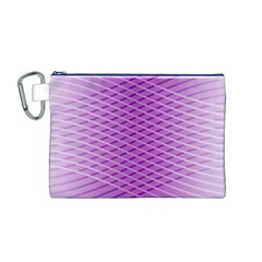 Abstract Lines Background Canvas Cosmetic Bag (m)